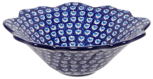 Ornate Flared Bowl (Blue Heart)