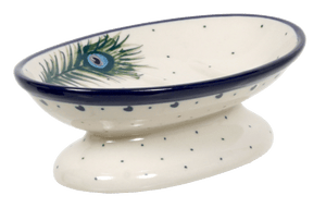 Footed Soap Dish (Peacock Flair)
