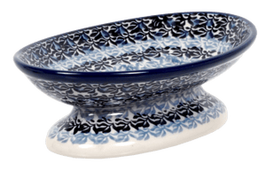 Footed Soap Dish (Blue Night)