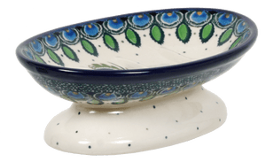 Footed Soap Dish (Peacock Plume)