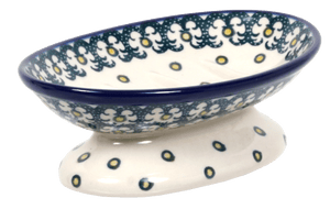 Footed Soap Dish (Daisies on the Green)