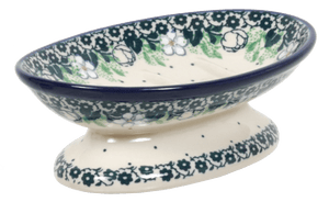 Footed Soap Dish (Green Anemone)
