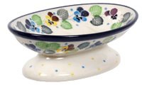 Footed Soap Dish (Pastel Pansies)