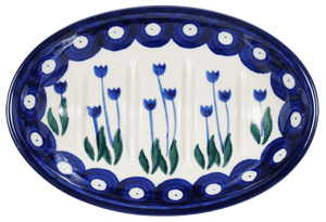 Footed Soap Dish (Tulip Dot)