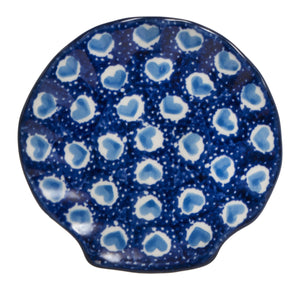 Small Shell Dish (Blue Heart)