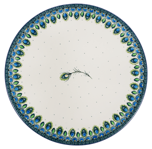 Round Charcuterie Tray (Peacock Plume)