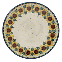 Round Tray (Checkered Sunflowers)