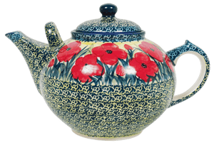 The 3 Liter Teapot (Poppies in Bloom)