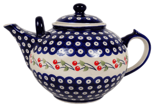 The 3 Liter Teapot (Cherry Dot)