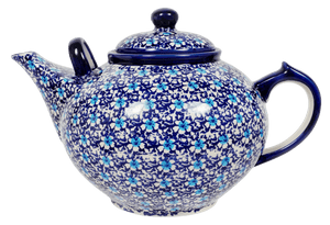 The 3 Liter Teapot (Blue on Blue)