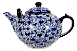 The 3 Liter Teapot (Dusty Blue Butterflies)