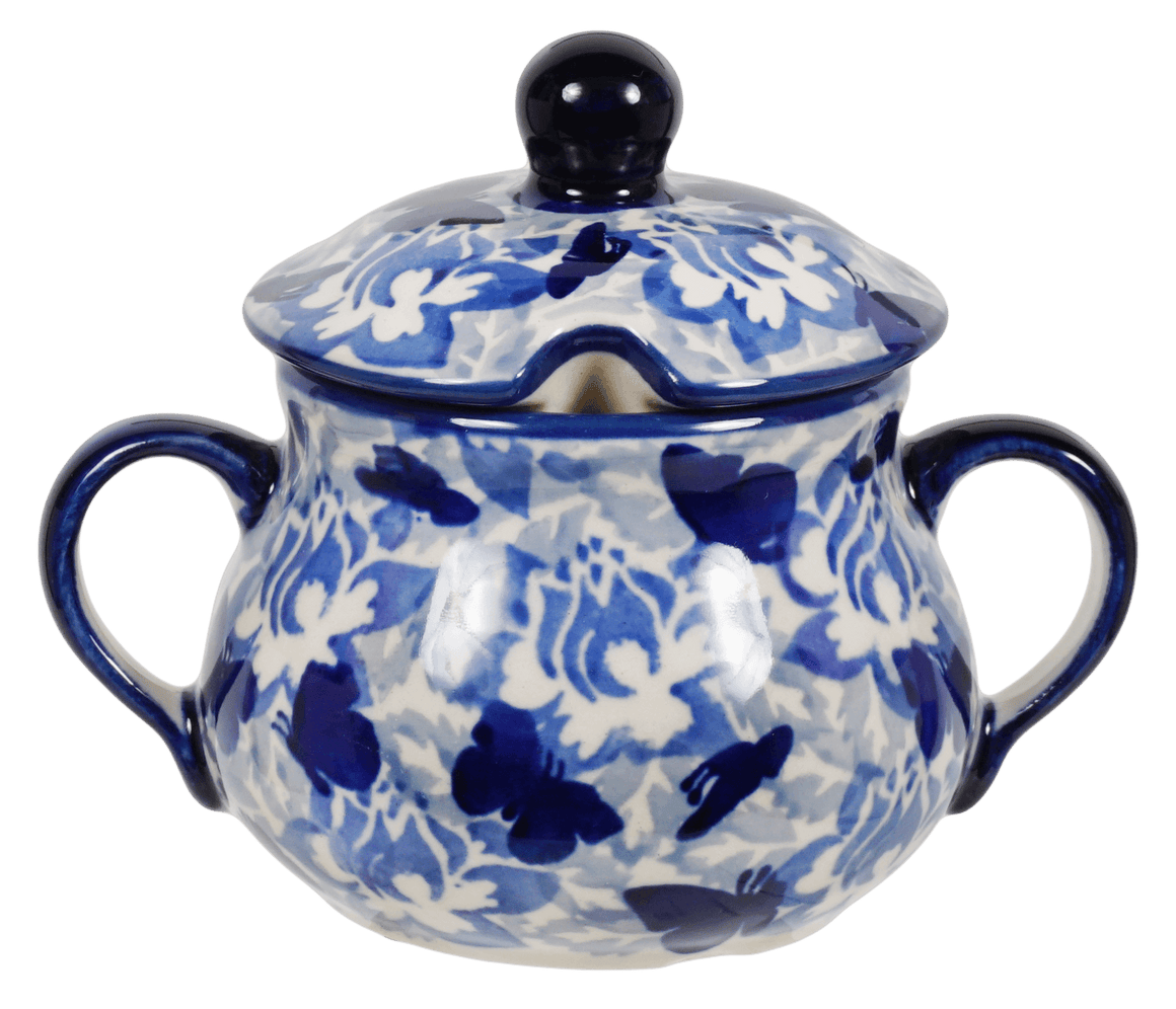 The Traditional Sugar Bowl (Dusty Blue Butterflies)