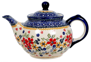 The 0.7 Liter Teapot (Ruby Bouquet)