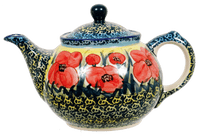 The 0.7 Liter Teapot (Poppies in Bloom)