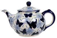 The 0.7 Liter Teapot (Blue Butterfly)