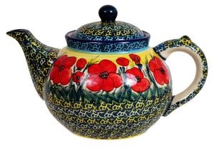 The 1.5 Liter Teapot (Poppies in Bloom)