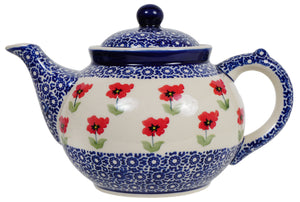 The 1.5 Liter Teapot (Poppy Garden)