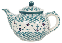 The 1.5 Liter Teapot (Woven Pansies) | C017T-RV