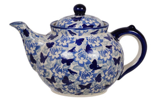 The 1.5 Liter Teapot (Dusty Blue Butterflies)