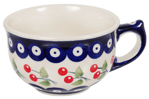 Teapot with Canadian Cup (Cherry Dot)