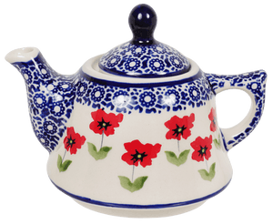 Teapot with Canadian Cup (Poppy Garden)