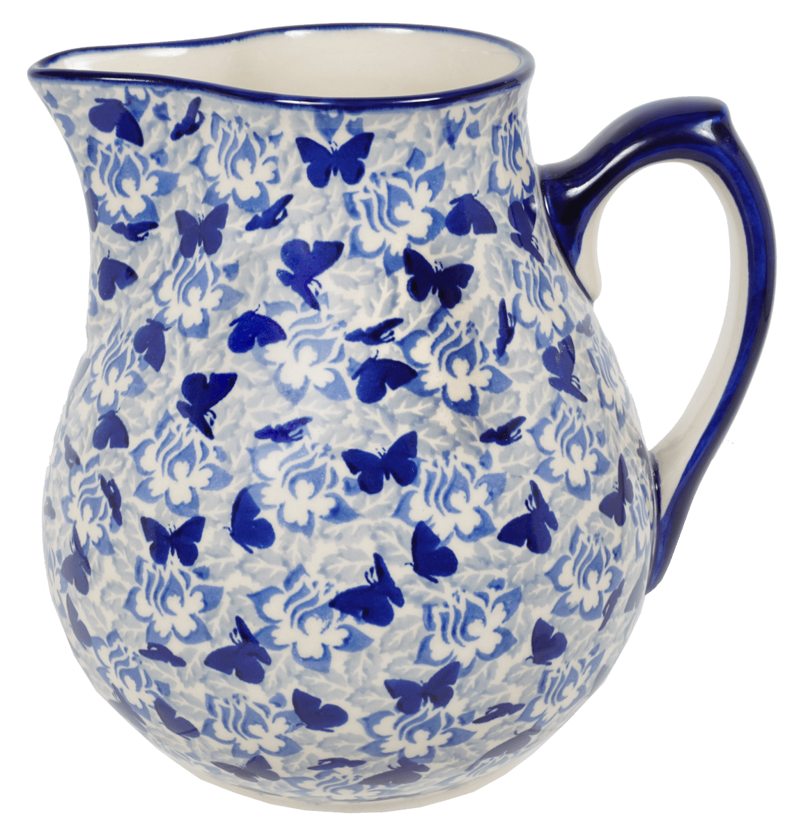 The 3 Liter Pitcher (Dusty Blue Butterflies)