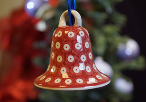Large Bell Ornament (Dot to Dot - Red)