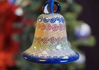 Large Bell Ornament (Speckled Rainbow)