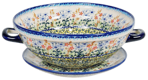 The Boleslawiec Berry Bowl (Pastel Garden)