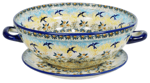 The Boleslawiec Berry Bowl (Soaring Swallows)