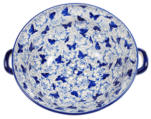 The Boleslawiec Berry Bowl (Dusty Blue Butterflies)