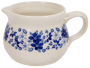 The 1 Liter Wide Mouth Pitcher (Duet Blue Wreath)