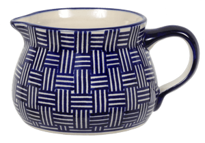 The 1 Liter Wide Mouth Pitcher (Blue Basket Weave)