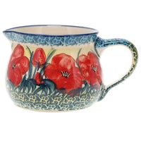 The 1/2 L Wide Mouth Pitcher (Poppies in Bloom)