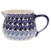 The 1/2 L Wide Mouth Pitcher (Tulip Blues)