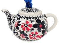 Teapot Ornament (Duet in Black & Red)
