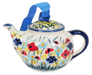 Teapot Ornament (Sunlit Wildflowers)