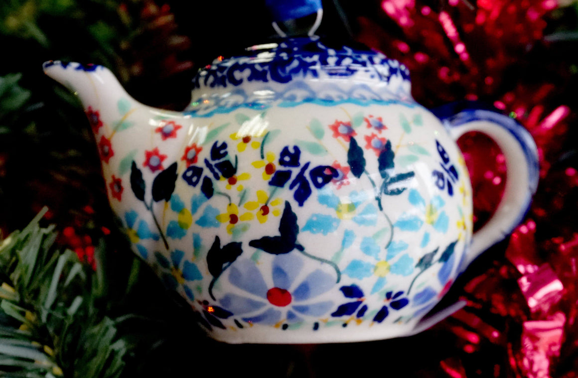 Teapot Ornament (Butterfly Bounty)