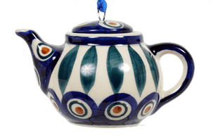 Teapot Ornament (Peacock)