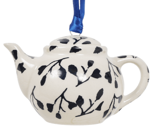 Teapot Ornament (Black Spray)