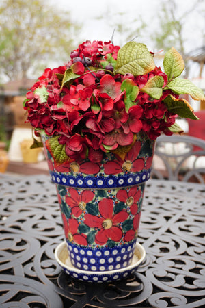 "9.25""tall Flower Pot (ULA)"