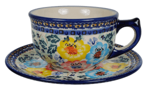 Canadian Cup and Saucer (Brilliant Garland)