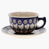 Canadian Cup and Saucer (Floral Peacock)