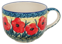 Large Latte/Soup Cups (Poppies in Bloom)