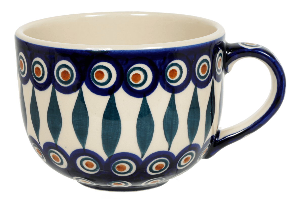 Large Latte/Soup Cups (Peacock)
