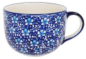 Large Latte/Soup Cups (Blue on Blue)