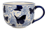 Large Latte/Soup Cups (Blue Butterfly)