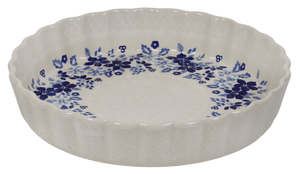 Medium Quiche Dish (Duet Blue Wreath)