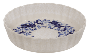 The Small Quiche Dish (Duet Blue Wreath)