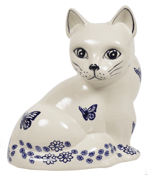 Large Cat Figurine (Butterfly Garden)